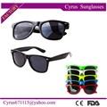 atacado promocionais personalizados preto frame unissex óculos de sol wayfarer