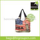 USA eco friendly handbag cotton canvas with zipper