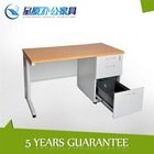 modern metal office table with wooden top,3 locking drawers