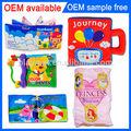 Caliente 2014 nuevo producto oem regalo de bebé libro& infantil los niños libro de tela para bebés niños juguete educativo producto& de juguete de felpa