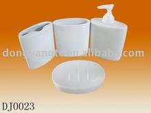 4pcs ceramic bath accessory