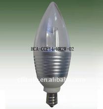 2W Hight power leds Screw Thread E14 E12 LED Candle Light