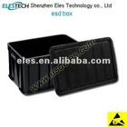 customized size available black conductive esd box with lid