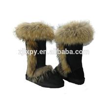 7038 - 2015 fox fur collar sheepkin snow woman boot