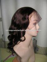 100%huaman hair glue less silk top full lace wig