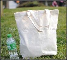 100% plain organic cotton shopping bag cotton promotional bag wholesale