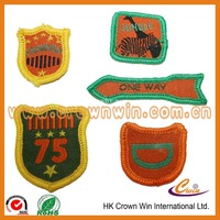 Fabric polyester woven patch/tag for garment