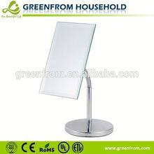 Chrome metal table style heat resistant mirror