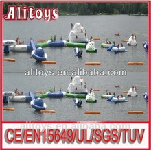 2015 giant Inflatable Water Totter floating water toys water iceberg for sale