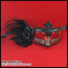 Handcraft halloween mask party supplies in black/red-Mix color