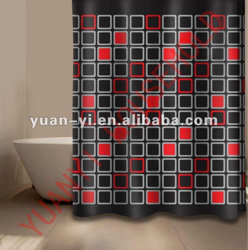 blocco doccia tenda pesi nero e rosso di lusso set tenda ...