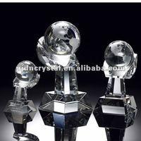 Crystal Globe on Hand Award tophy