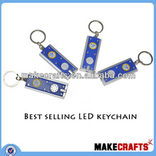 LK-Aa03 Fashion 100 cents Keychain with logo design available colorful kinds of led keychain