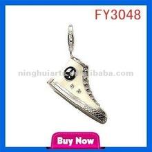 Alphabets Designs Big Stone Jewelry Bail Clasp origami owl China pendant wholesale
