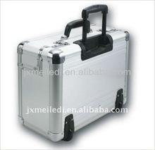 High quality aluminum air hostess private draw-bar box trolley case