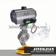 DIN/API flange connection butterfly valve of JINERJIAN