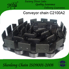 Double pitch conveyor chains with attachments C22AA2-m6