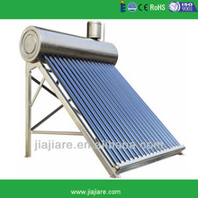 EN12976 Approved Pre-heated vacuum tube solar water heater with copper coil