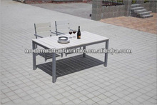 Aluminum Plastic wood composite dining table and chair