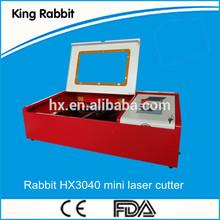 Rabbit desktop Co2 Laser Engraving machine HX-3040 with a big saleprice
