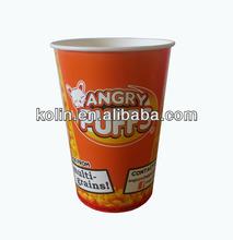 custom disposable paper popcorn cup/popcorn bowl/popcorn bucket