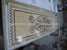 De mármol del mosaico mural, medallón de cerámica