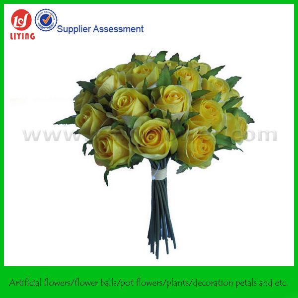 Buquê de casamento, flor artificial do casamento buquê em vermelho x 26 de botões de rosa
