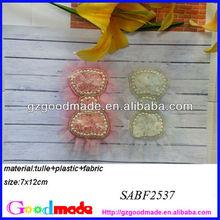 perla bordatura a mano fiori di stoffa per le scarpe