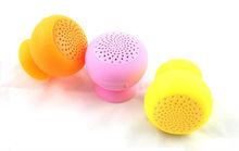 Coloful silicone mini speaker, suction cup Bluetooth speaker