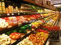 Gôndola varejo supermercado vegetais e frutas prateleiras prateleiras de exposição prateleira de alumínio geladeira freezer