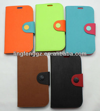 wholesale Mobile Phone PU Wallet Leather Case for Samsung Galaxy DUOS i9082