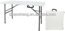 4FT PLASTIC FOLDING TABLE, PICNIC FOLD IN HALF TABLE