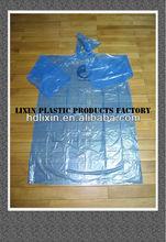 2013 Newest Promotional cheap adult disposable pe raincoat