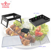 foldig barbecue grill can be fold on the desk easy cleaning and taking