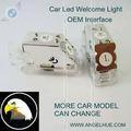 Del coche del led logotipo de la puerta de luz( 3w x2) audi para el logotipo de proyector de luz para lambor juego ghini led coche logotipos