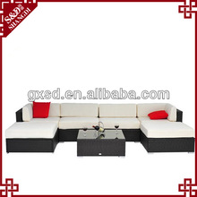 SD hot sale white modern low back sectional sofa