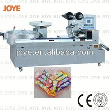 High Efficiency Automatic Ball Shaped Lollipop Horizontal Pillow Square Candy Wrapping Machine JY-1200