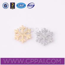 Popular metal label artificial snow decoration for garment