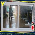 Buena calidad de aluminio de tamaño estándar con las normas australianas como/nz2047 balcón corredera ventana