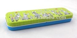 Metal tin pencil box stationery pencil case