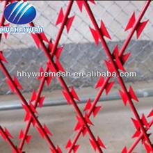 Milatery barbelés, En acier inoxydable flexible rasoir treillis métallique ( usine )