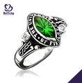 De corte de diamantes cz dedo de la señora de la escuela anillo de la clase/personalizado de la joyería en china