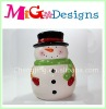 gift snowman Christmas candy jar Cookie Jar