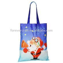 Xmas/christmas foldable shopping bag