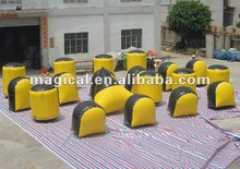Field operation inflatable paintball bunker/ inflatable bunker 0.9mm PVC