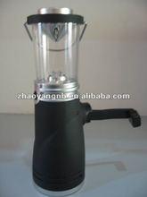 Mini solar wind up camping lantern