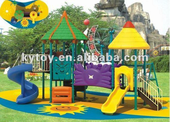 De juegos para niños toboganes de plástico, Zona de jardín ...