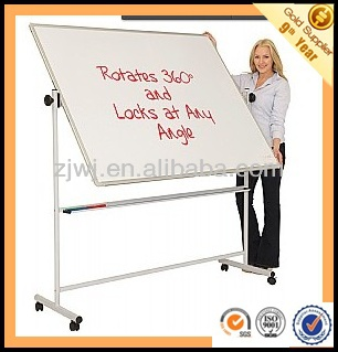 Office and conference movable double sided white board with castors