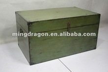 Chinese Antique Cute Green wooden Suitcase