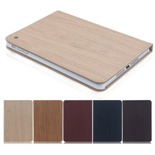 wood pu leather case for ipad2/3/4/5/air case smart cover for ipad air ipad5